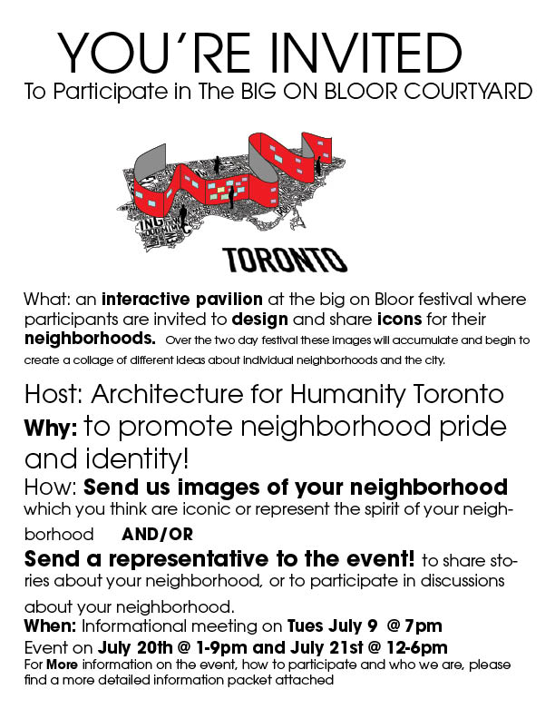 Big on Bloor Neighborhood Group Invitation