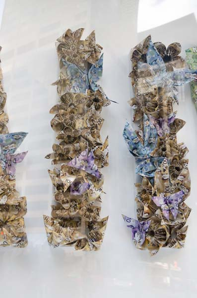 Butterflies on Flowers, PULP Origami for WWF # WeAreAllWildlife Installation