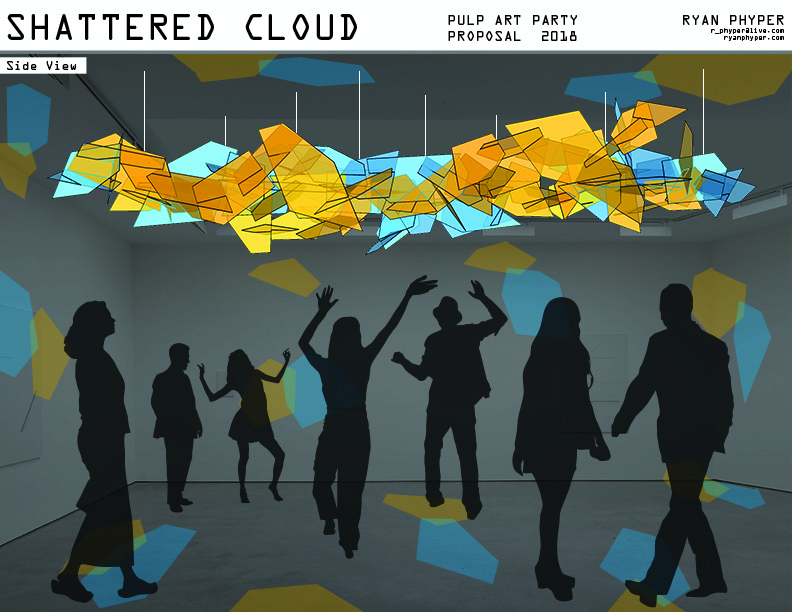 Shattered Cloud by Ryan Phyper coming to PULP: paper art party 2018